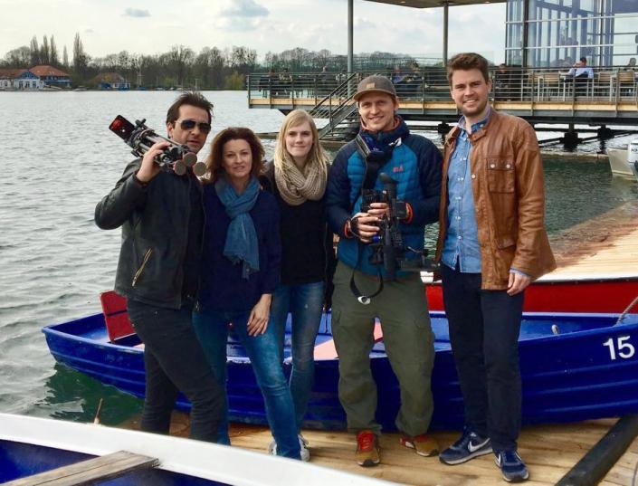 Filmdreh RTL Nord mit Andreas Elsholz