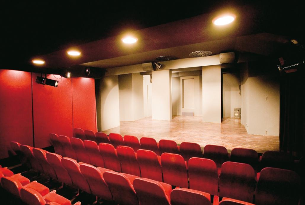 der Blick auf die Bühne